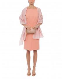 Pink Cotton Stretch Cotton Dress