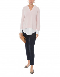 Paloma Pink Sweater with White Underlayer