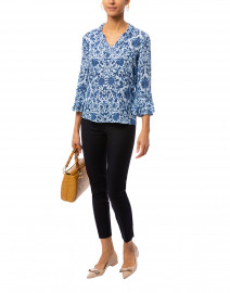 Candice Blue Silk Georgette Blouse