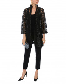 Rita Black Deco Sheer Lace Top