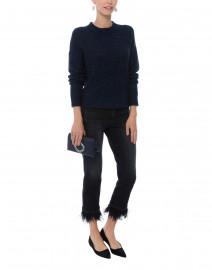 Ink Navy Metallic Shimmer Sweater