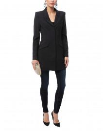 Carbon Black Wool Blazer Dress