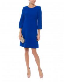 Halo Regal Blue Wool Crepe Tunic Dress