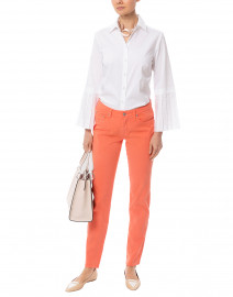Coral Tapered Straight Leg Stretch Cotton Jean