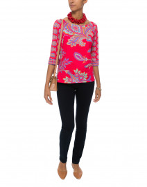 Red Queenie Printed Top