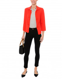 Red Coral Cotton Milano Swing Jacket