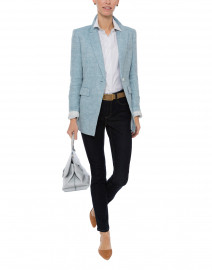 Heather Blue Linen Blazer