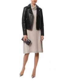 Black Zip Up Leather Jacket