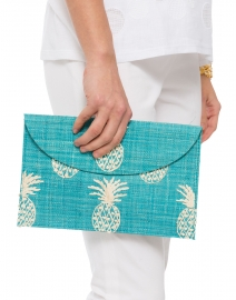 Pineapple Straw Envelope Clutch