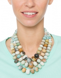 Amazonite Triple Strand Necklace