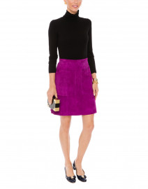 Suzi Orchid Suede Skirt