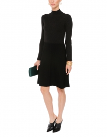 Charcoal and Black Knit A-line Dress