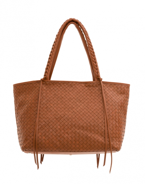 Woven Brandy Leather Tote