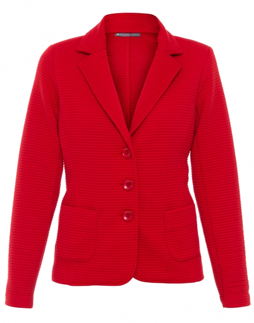 Red Chili Ribbed Knit Blazer