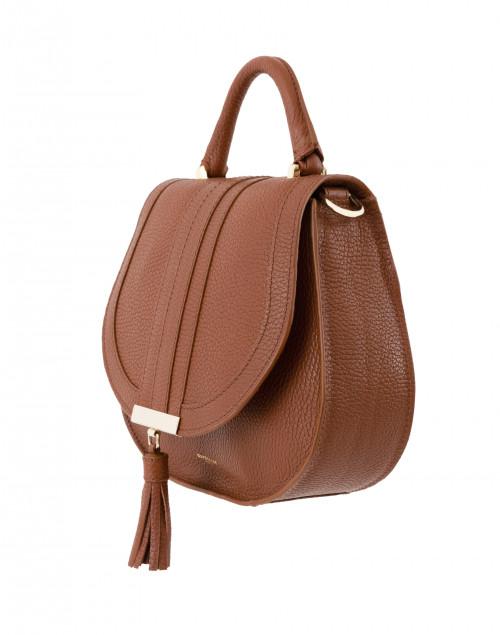 Mini Venice Cognac Pebbled Leather Cross Body Bag Demellier
