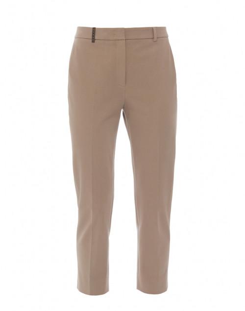 Beige Stretch Cotton Pant