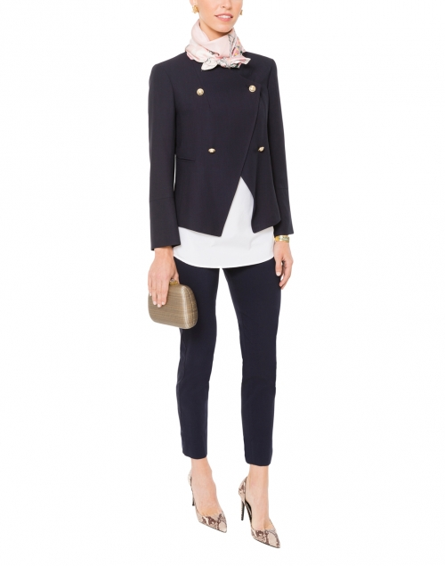Navy Double-Breasted Jacket with Gold Buttons