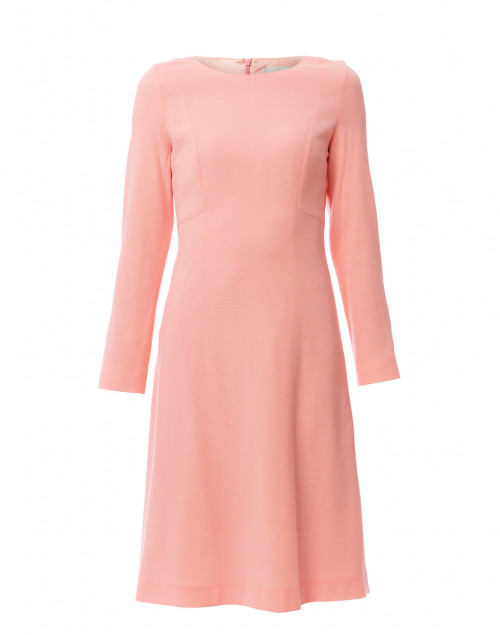 Helena Sunset Coral Wool Crepe Dress