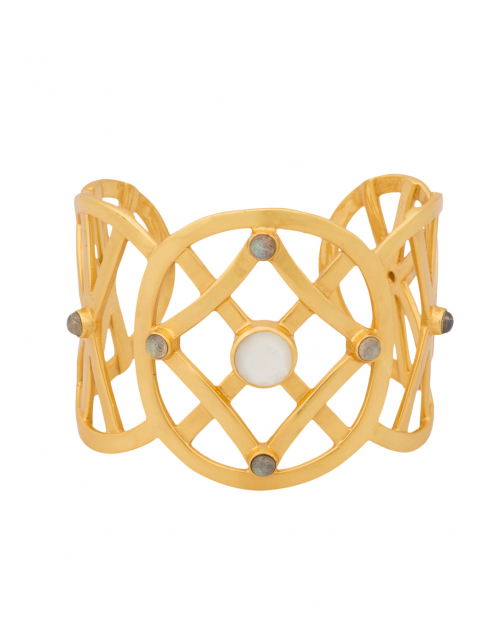 Tivoli Mother of Pearl Gold Cuff Bracelet