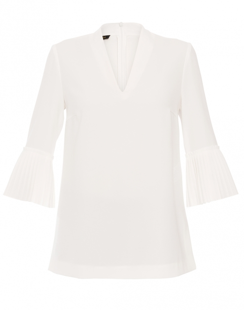 Niss Off-White Blouse with Pleated Bell Sleeves