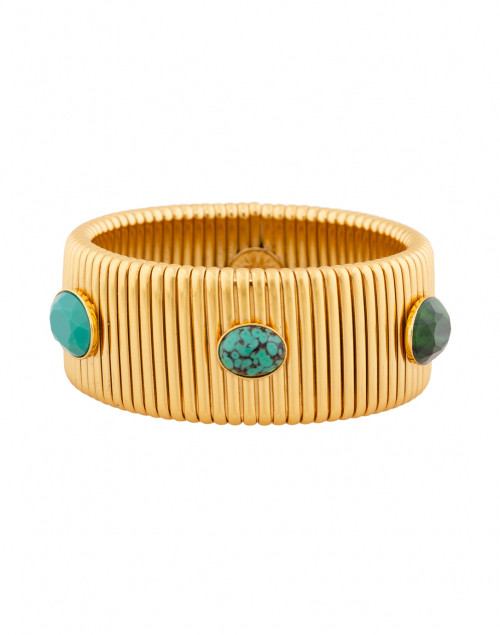 Strada Turquoise and Green Gold Large Bracelet