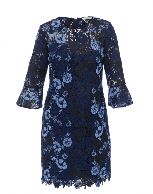 Jemima Navy Floral Lace Dress
