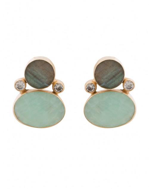 Amazonite and Labradorite Stud Earrings