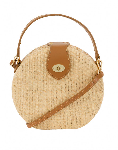 Peyton Light Natural Round Straw Bag