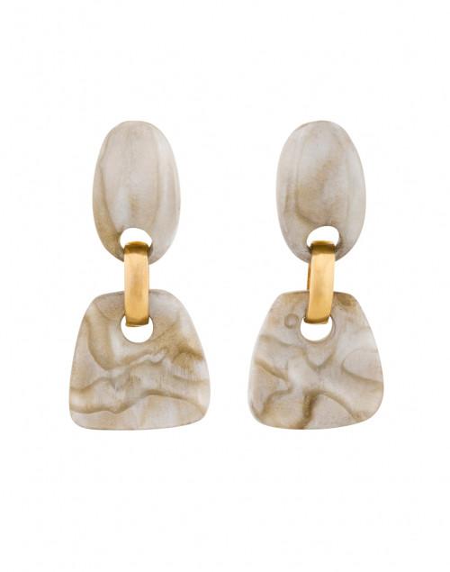 Chloe Ivory Resin Drop Clip On Earrings