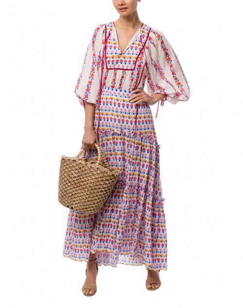 Ipsa Floral Printed Cotton Skirt
