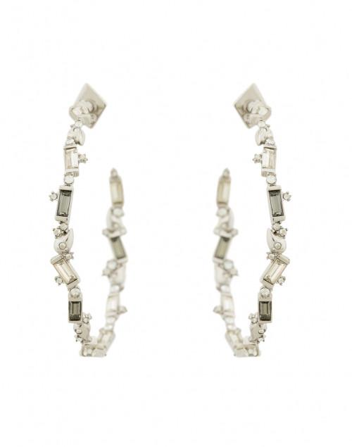 Crystal Baguette Hoop Earring