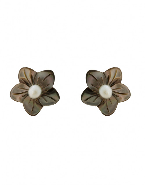 Charcoal Flower Earrings