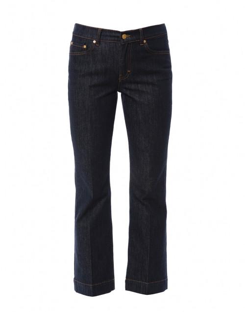 Dark Blue Denim Flared Jean