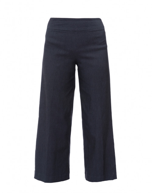 Indigo Cropped Wide Leg Techno Stretch Pant