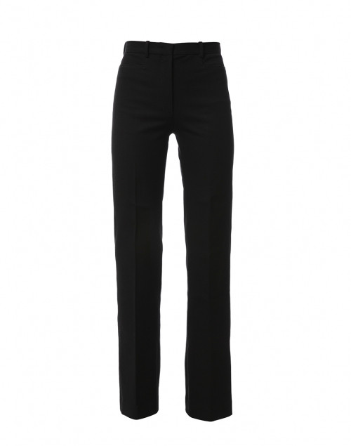 Road Black Gabardine Stretch Wide Leg Trouser