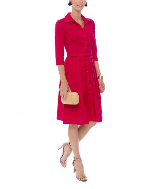 Audrey Raspberry Shirt Dress