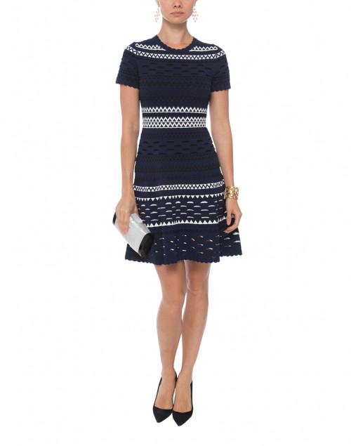 Landale Navy Striped Knit Dress
