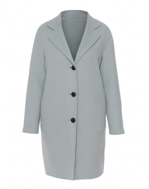 Pale Blue Wool Cashmere Coat