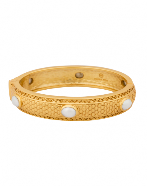 Medici 6-Stone Pearl Hinge Bangle