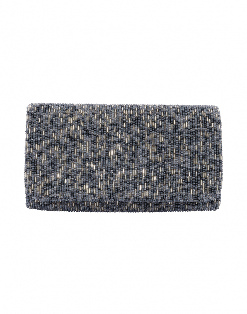 Gunmetal Beaded Foldover Clutch