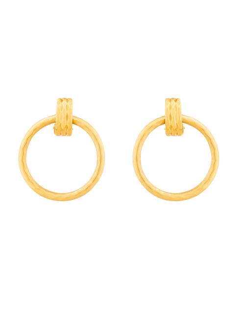 Savannah Doorknocker Gold Clip On Earring