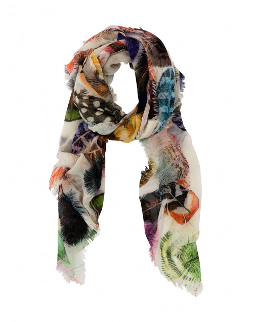 Feather Print Scarf