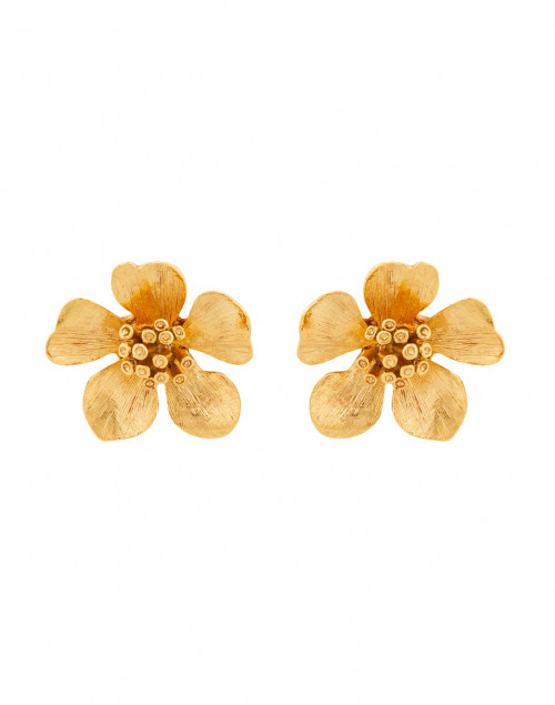 Classic Flower Button Pierced Earring