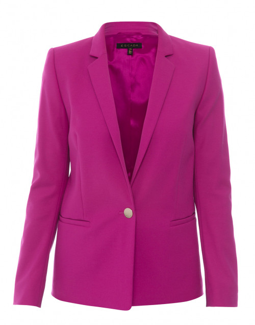 Baurento Fuchsia Stretch Cotton Blazer