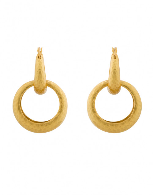 Catalina Two-in-One Gold Hoop Earrings