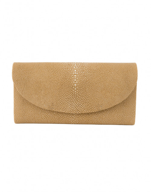 Baby Grande Beige Stingray Clutch