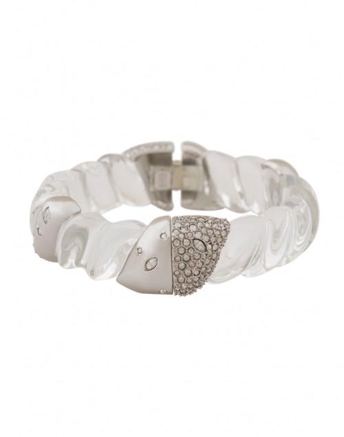 Clear Crystal Encrusted Rope Hinge Bracelet