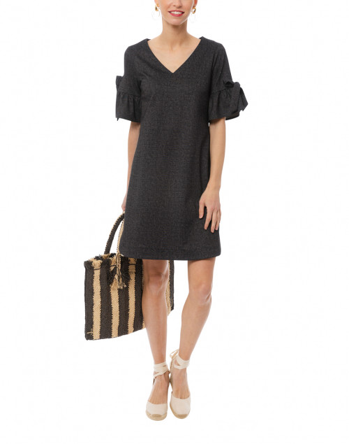 Cory Black Stretch Denim Dress