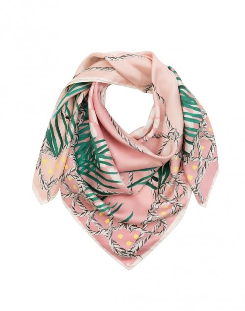 Pink Silk Birds Scarf
