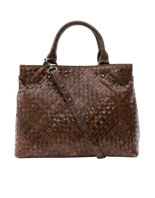 Mia Woven Chestnut Watersnake Tote